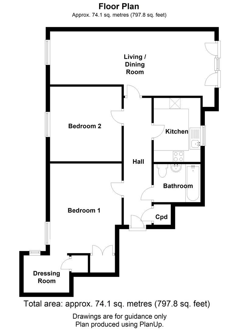 Floor plan 63 Hampden GardensCambridge